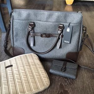 Tumi messenger bag w/ wallet and laptop case